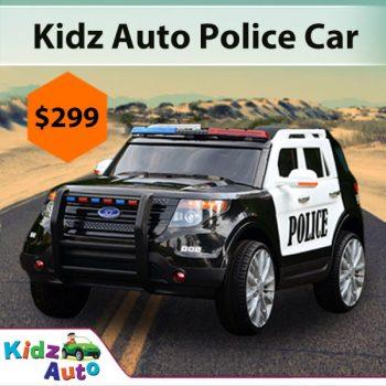 Cars For Kids >> Cars For Kids Police Car Black